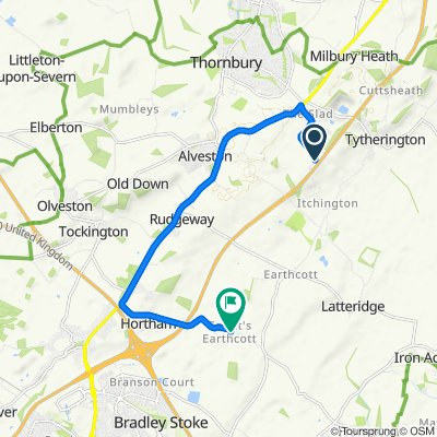Itchington Road, Bristol to Gaunts Earthcott Lane, Bristol