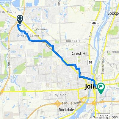 Mall Loop Drive 3401, Joliet to Richards Street 226, Joliet