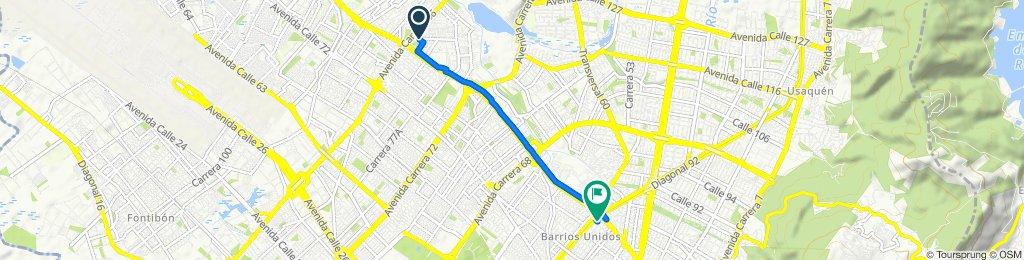De Calle 82 Bis 84-26, Bogotá a Carrera 29c 79-58, Bogotá
