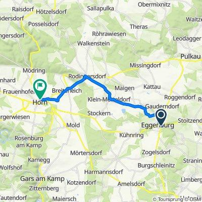 Kapistranring 5, Eggenburg nach Schulgasse 1, Horn