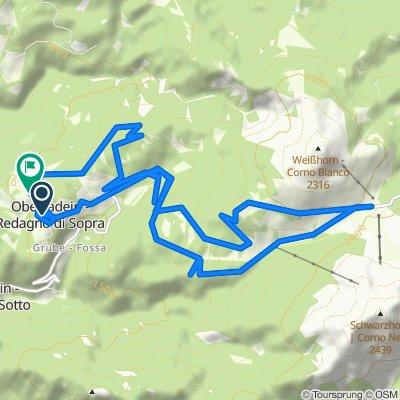 Oberradein 47, Aldein nach Frazione Redagno di Sopra 59, Aldein