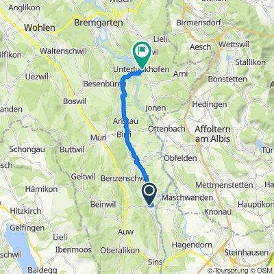 Storchenweg 2–4, Mühlau to Berghofstrasse 7A, Unterlunkhofen