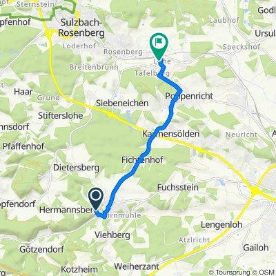 Hermannsberger Weg 14, Ammerthal nach St.-Christophorus-Straße 4, Sulzbach-Rosenberg