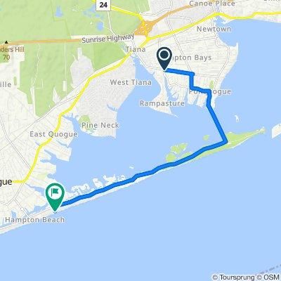 156–198 E Tiana Rd, Hampton Bays to 172 Dune Rd, Quogue