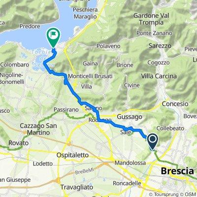 Da Via Torricella di Sotto 80f1, Brescia a Via Dante Alighieri 2, Iseo