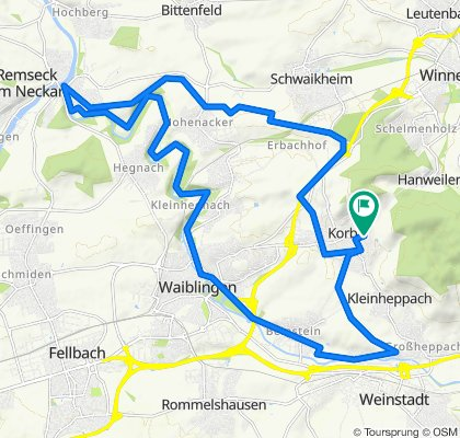 Korb-Remseck-Waiblingen-Korb