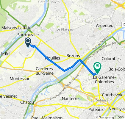 Steady ride in Colombes