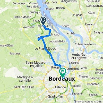 De 12 Rue de la Trémoille, Margaux à 29 Rue Esprit des Lois, Bordeaux