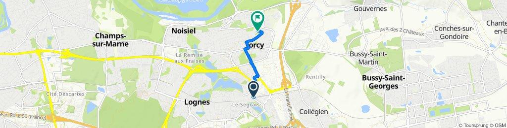 De 9 Rue Léon Blum, Torcy à 37B Grande Rue, Torcy