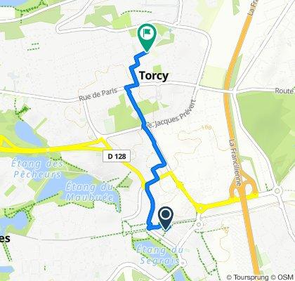Itinéraire vers 10 Rue Bazard, Torcy
