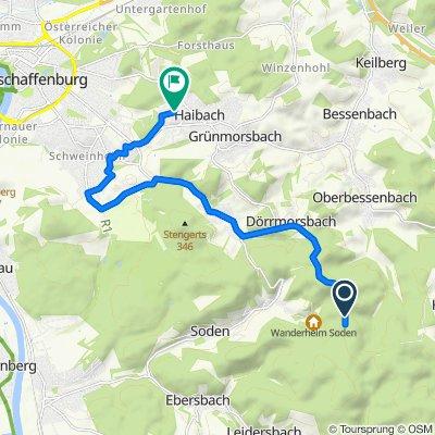 Unnamed Road, Miltenberg nach Paul-Gerhardt-Straße 3, Haibach