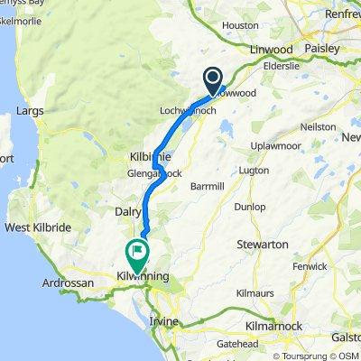 Route to Caley House, 2 Dalry Road, Kilwinning