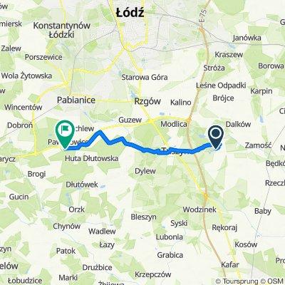Trasa do Pawlikowice 88, Pabianice