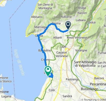 Route von Località Casetta, Rivoli Veronese