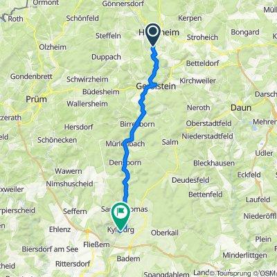 Margarethenstraße 9, Hillesheim nach L24 55, Kyllburg