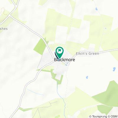 Ingatestone, Blackmore to Fingrith Hall Lane 1, Blackmore