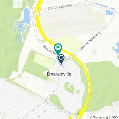 De Rue d'Émery, Emerainville à Boulevard de Beaubourg, Emerainville