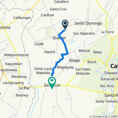 Sto Domingo Licab Road, Quezon to Irrigation Road, Zaragoza