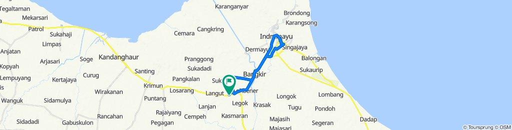 Unnamed Road, Lohbener to Jalan Raya Lohbener 60, Kecamatan Lohbener