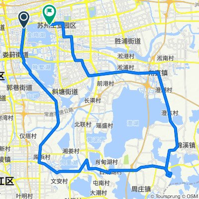 Route to 国际博览中心东, Suzhou Shi