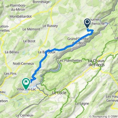Les Louisot, Fournet-Blancheroche to 6 Place Saint-Jean, Villers-le-Lac