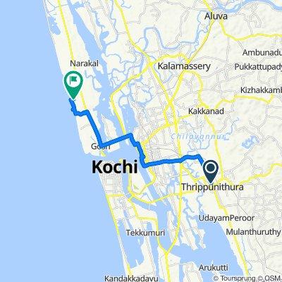 Thrippunithura, Kochi to Beach Link Road, Kochi