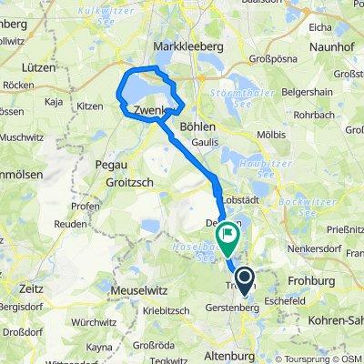 B93, Treben nach Rudolf-Breitscheid-Straße, Regis-Breitingen