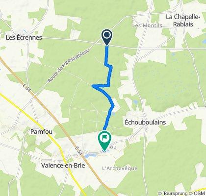 De D213, Fontenailles à 7 Rue du Moulin, Echouboulains