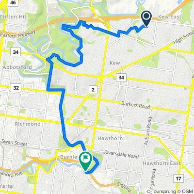 25 Coleman Avenue, Kew East to Main Yarra Trail, Burnley