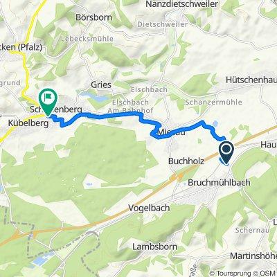 Bruchstraße 11, Bruchmühlbach-Miesau nach Rathausstraße 1, Schönenberg-Kübelberg