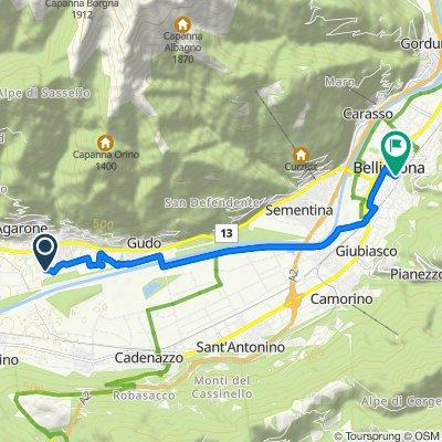 Via Campeggio 1, Cugnasco nach Piazza Indipendenza 2, Bellinzona
