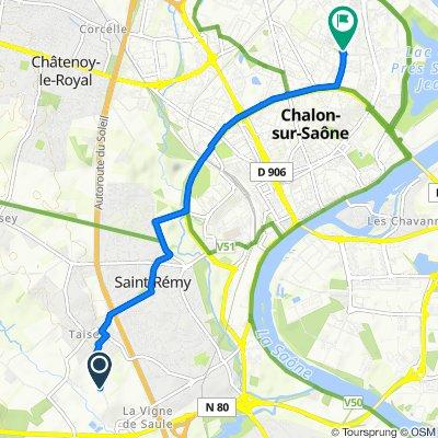 De Chemin de Martorez, Saint-Rémy à 67 Rue du Général Giraud, Chalon-sur-Saône
