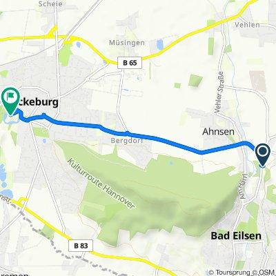 Obernkirchener Straße, Obernkirchen nach Schloßplatz 1, Bückeburg