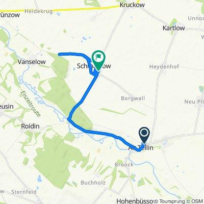 Dorfstraße 6B, Alt Tellin nach Schmarsow 38, Kruckow