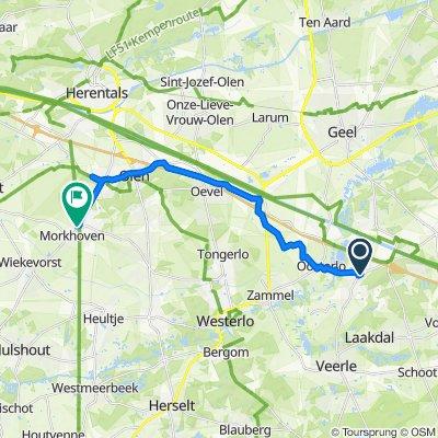 Eindhoutdorp 22, Laakdal naar Molenstraat 6, Herentals