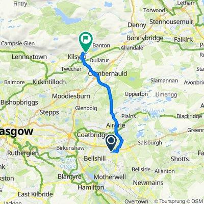 Coddington Crescent, Motherwell to 21 Lochan Road, Glasgow