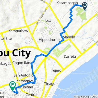 Panagdait Road 836, Cebu City to A. Borromeo Street 99, Cebu City