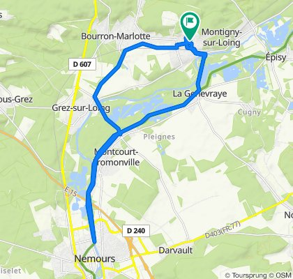 De 8 Rue du Poirier de Sauge, Montigny-sur-Loing à 8 Rue du Poirier de Sauge, Montigny-sur-Loing
