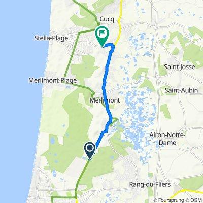 De Route de Bagatelle, Berck à 622 Boulevard de France, Cucq