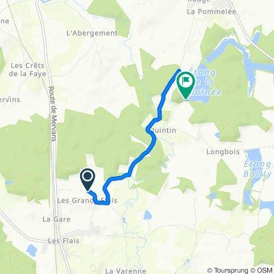De 1 Rue de la Reculé, Saint-Bonnet-en-Bresse à Route de Longbois, Charette-Varennes