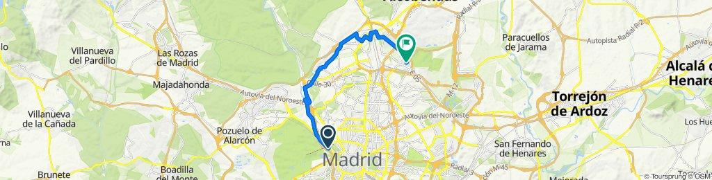 De Calle de Aniceto Marinas, Madrid a Calle del Alcalde Henche de la Plata, 34, Madrid