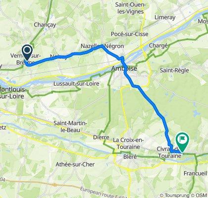 De 18 Rue Neuve, Vernou-sur-Brenne à Château de Chenonceau, Chenonceaux
