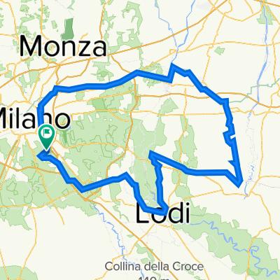 Chiaravalle - Cassano d'Adda - Crema - Lodi Anello B 130k