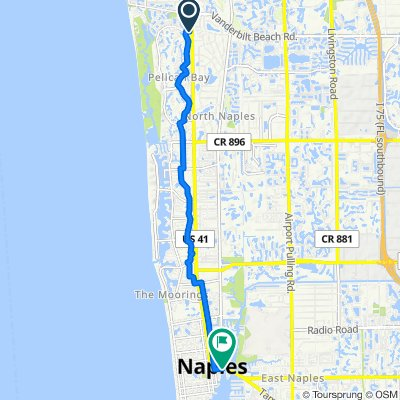 8847–8899 Pelican Bay Blvd N, Naples to 1200 Fifth Ave S, Naples