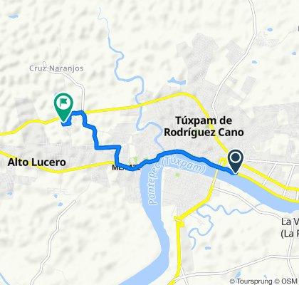 De Barra de Túxpam - Túxpam 76, Túxpam de Rodríguez Cano a Avenida Lázaro Cárdenas del Río, Alto Lucero
