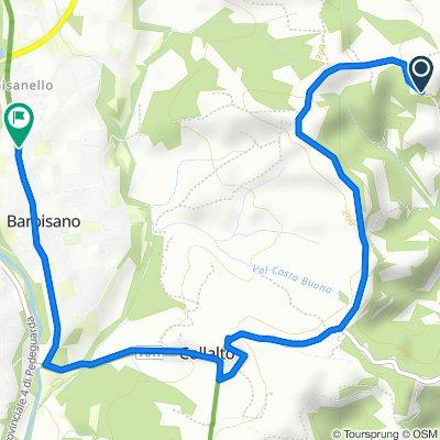 Via Fornaci di Collalto, Susegana nach Via Montegrappa 50, Barbisano