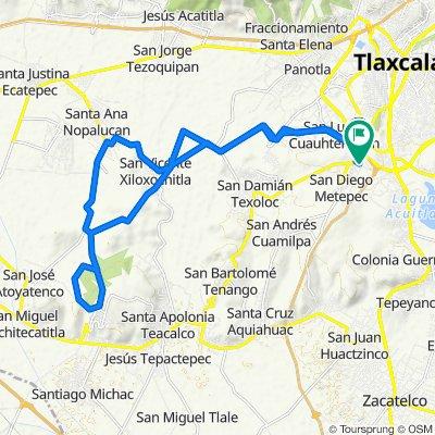 De Avenida Independencia 60, Tlaxcala de Xicohténcatl a Del Jardín 32a, Tlaxcala de Xicohténcatl