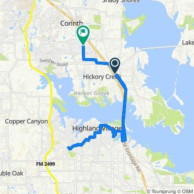 720 Wildwood Dr, Lake Dallas to 2560 Tower Ridge Dr, Corinth