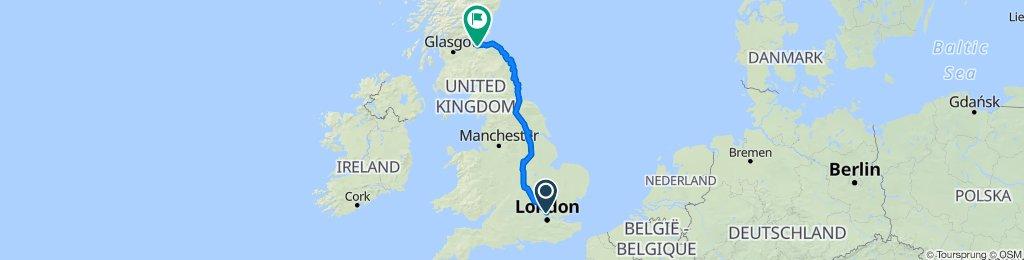 London to Edinburgh