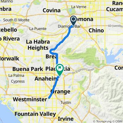 725 Featherwood Dr, Diamond Bar to 132 E Riverdale Ave, Orange